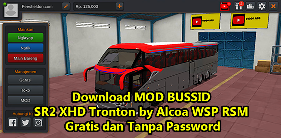 Download MOD BUSSID SR2 XHD Tronton by Alcoa WSP RSM Gratis dan Tanpa Password