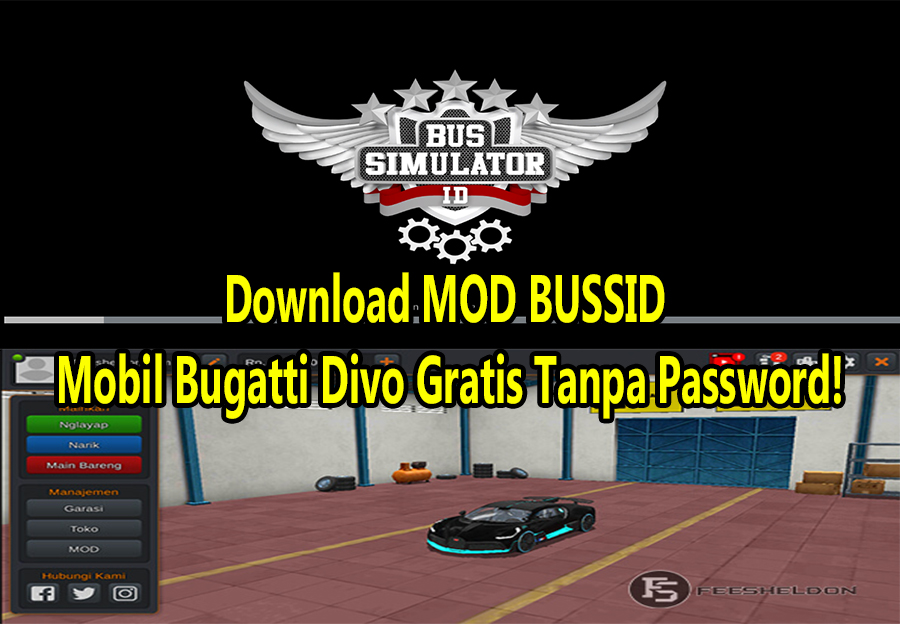 Download MOD BUSSID Mobil Bugatti Divo Gratis Tanpa Password!