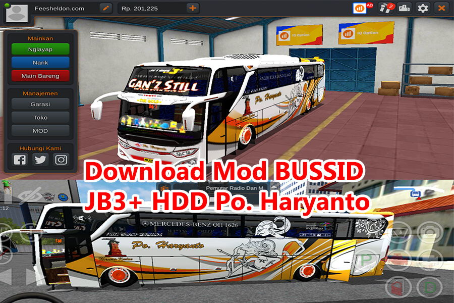 Download Mod BUSSID JB3+ HDD Po. Haryanto Ganz Still Air Suspension