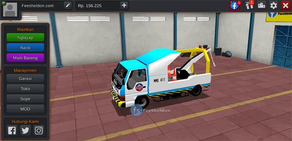 Isuzu Elf TowTruck By AzuMods