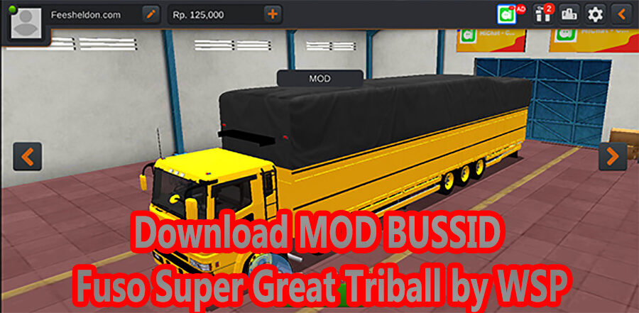 Download MOD BUSSID Fuso Super Great Triball by WSP