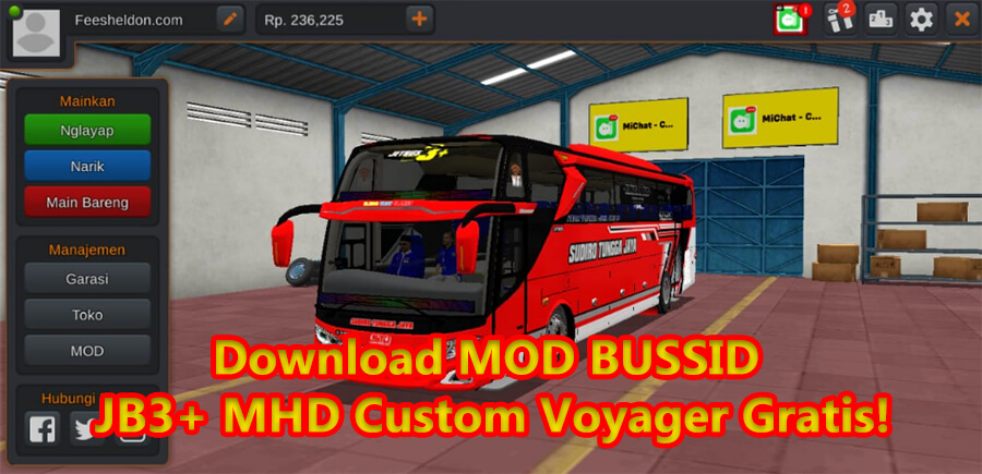 Download MOD BUSSID JB3+ MHD Custom Voyager Gratis!