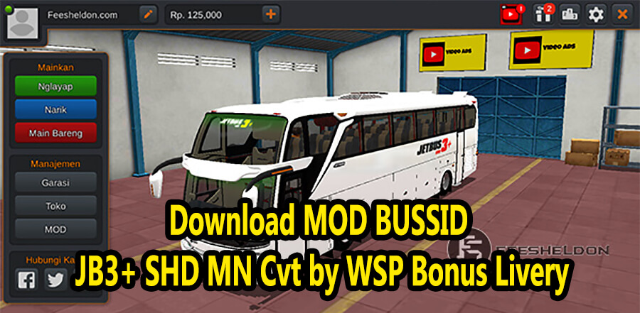 Download MOD BUSSID JB3+ SHD MN Cvt by WSP Bonus Livery