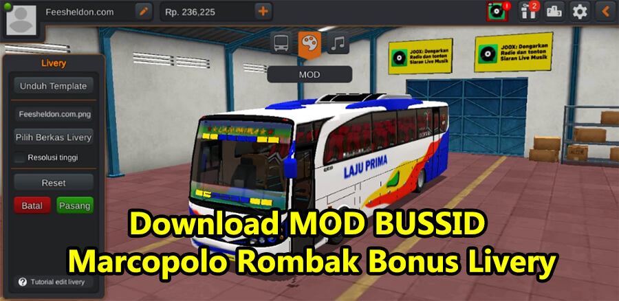 Download MOD BUSSID Marcopolo Rombak Bonus Livery