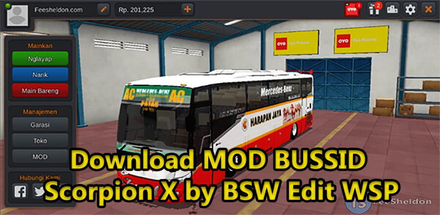 Download MOD BUSSID Scorpion X by BSW Edit WSP