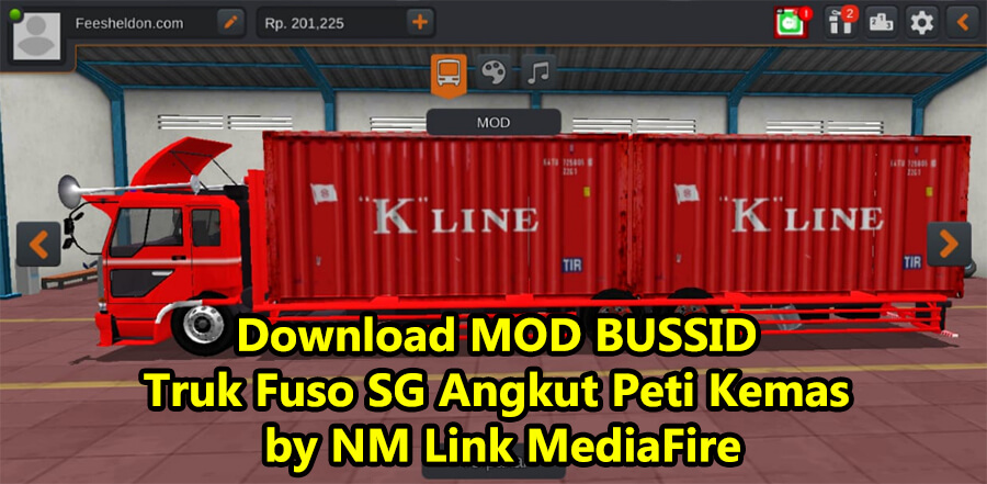 Download MOD BUSSID Truk Fuso SG Angkut Peti Kemas by NM Link MediaFire