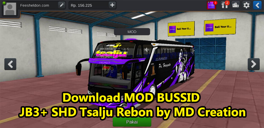 Download MOD BUSSID JB3+ SHD Tsalju Rebon by MD Creation