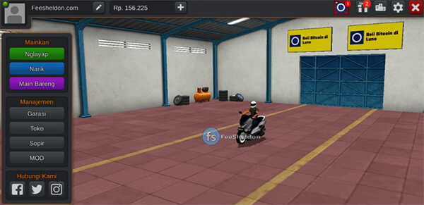 MOD NMAX 155cc BUSSID FREE BY AZUMODS
