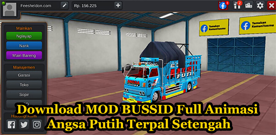 Download MOD BUSSID Full Animasi Angsa Putih Terpal Setengah