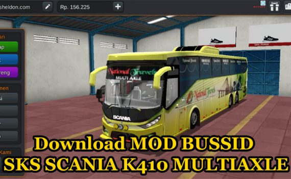 Download MOD BUSSID SKS SCANIA K410 MULTIAXLE