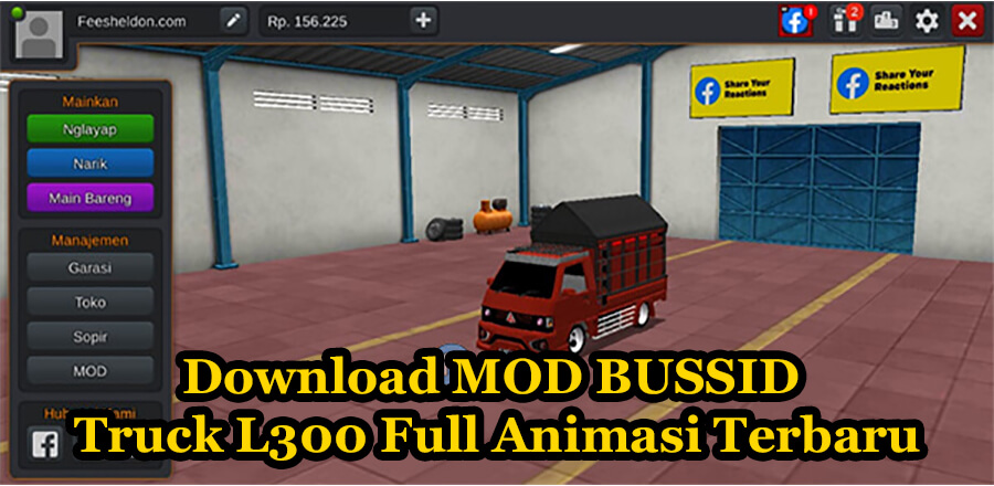 Download MOD BUSSID Truck L300 Full Animasi Terbaru