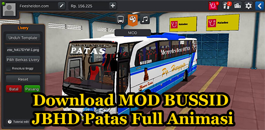 Download MOD BUSSID JBHD Patas Full Animasi