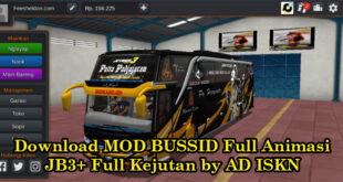Download MOD BUSSID Full Animasi JB3+ Full Kejutan by AD ISKN