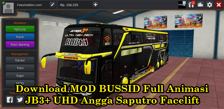 Download MOD BUSSID Full Animasi JB3+ UHD Angga Saputro Facelift