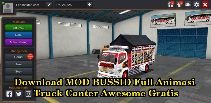 Download MOD BUSSID Full Animasi Truck Canter Awesome Gratis